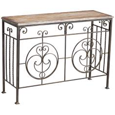 Cibola Rectangular Rustic Bronze Console Table