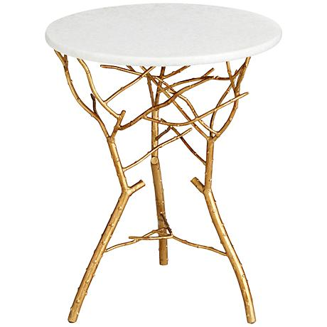 Langley Branch Round Gold Leaf Table