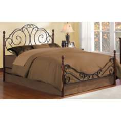 HomeBelle Cherry and Bronze Swirled Full Bed