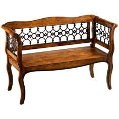 Jordan Wood and Iron Metalwork Bench