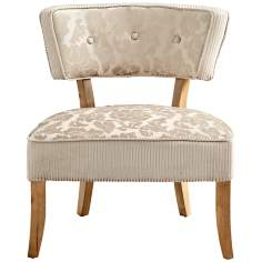 Miss Sweets Upholstered Tan and Ivory Chair