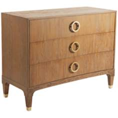 Atherton Eastern Teak and Brass Bachelors Chest
