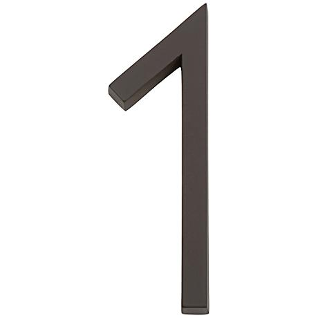 Modern Avalon Oil-Rubbed Bronze House Number 1