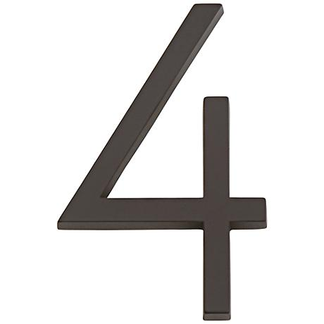 Modern Avalon Oil-Rubbed Bronze House Number 4