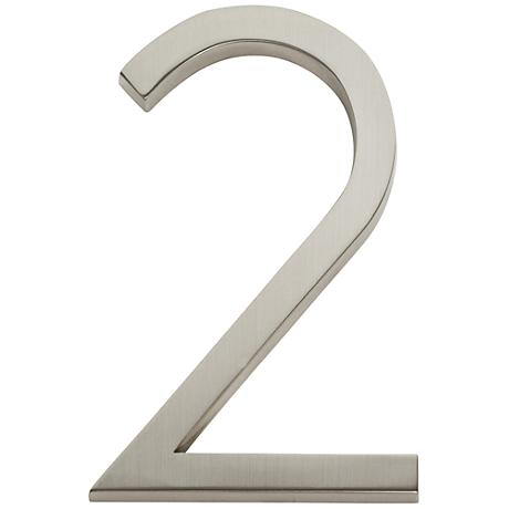 Modern Avalon Brushed Nickel House Number 2