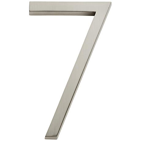 Modern Avalon Brushed Nickel House Number 7