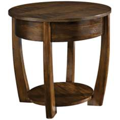 Concierge Round Medium Brown End Table