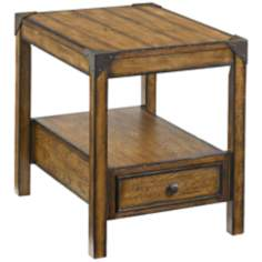 Studio Home 1-Drawer Gray Oak Chairside End Table
