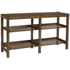 Studio Home 2-Shelf Gray Oak Console Table