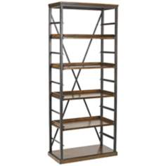 Studio Home 5-Shelf Gray Oak Bookcase