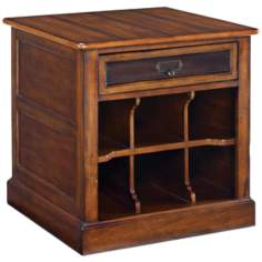 Mercantile 1-Drawer Whiskey Storage End Table