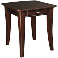 Enclave 1-Drawer Rectangular Sable End Table
