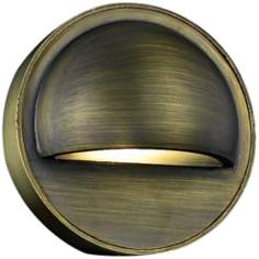 "Cast Brass 2"" High Bronze Deck Light"