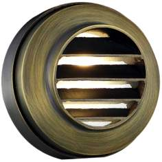 "Cast Brass 4"" Wide Bronze Deck Light"