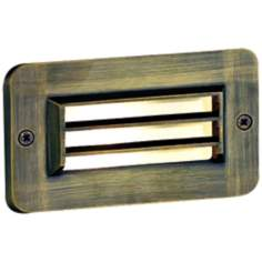 "Cast Brass 4 1/2"" High Bronze Deck Light"
