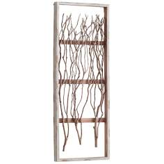 "Twix Whitewashed Wood 32"" High Vertical Wall Decor"