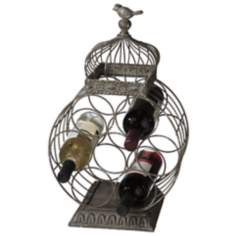 Bird Cage 7-Bottle Wine Holder