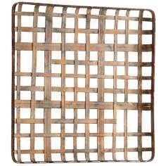 "Jute Woven 31 1/2"" Square Metal Wall Decor Ornament"