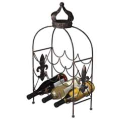 Crown 9-Bottle Wine Holder
