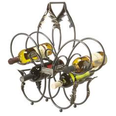 Fleur de Lis 5-Bottle Wine Rack