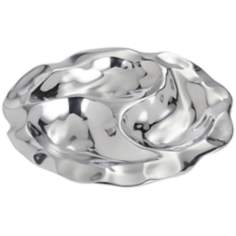 Polished Aluminum 3-Section Condiment Tray