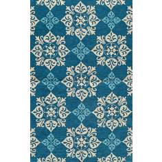 Veranda VR-29 Blue Indoor/Outdoor Area Rug