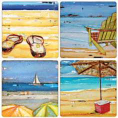 Hindostone Set of 4 Let's Cool Off Coasters