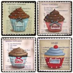 Hindostone Set of 4 Sweet Temptations Coasters