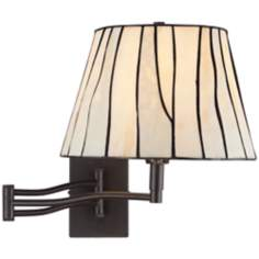 "Gervais 16"" High Plug-In Tiffany Style Swing Arm Wall Lamp"