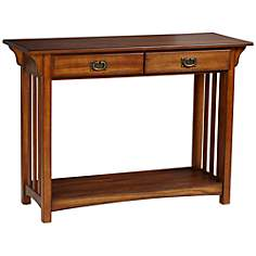 Shiloh Mission Style Medium Oak Console Table