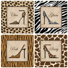 Hindostone Set of 4 Wild Stride Coasters