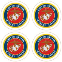 Hindostone Set of 4 United States Marine Corps Coasters