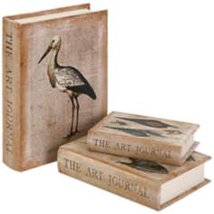 Set of 3 At the Beach Book Boxes
