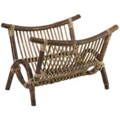 Kobu Natural Rattan Magazine Rack