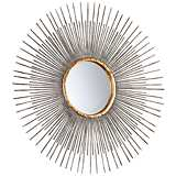 "Small Pixley 18"" Round Antique Silver Wall Mirror"