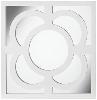 "bowsher 23 1/2"" square white lacquered wall mirror (2k322)"