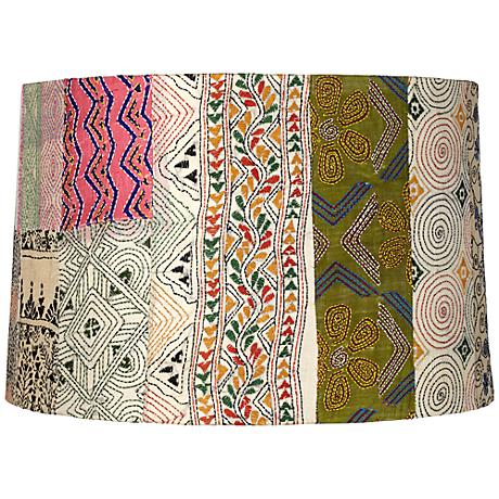 Patchwork Drum Lamp Shade 15x16x10.5 (Spider)