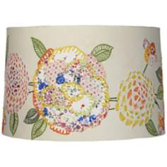 Embroidered Calico Drum Lamp Shade 15x16x10.5 (Spider)