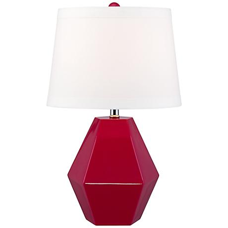 Mini Diamante Fuchsia Table Lamp