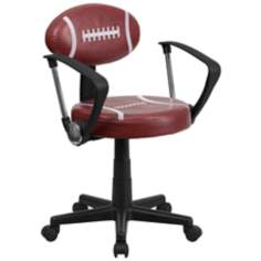 Black and Dark Red Football Office Chair