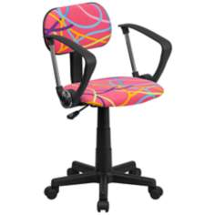 Multi-Color Swirl Pink Office Chair