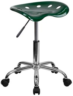 Adjustable Tractor Seat Chrome and Vibrant Green Stool (2K625) 2K625