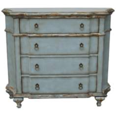 "Tinsley 42"" Wide Vintage Teal Accent Chest"