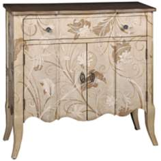 "Leah 34"" High Hand-Painted Accent Chest"