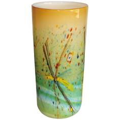 Palettes Autumn Illuminated Glass Vase Accent Lamp