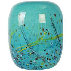 Palettes Aqua Illuminated Glass Lantern Accent Lamp