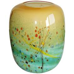 Palettes Autumn Illuminated Glass Lantern Accent Lamp