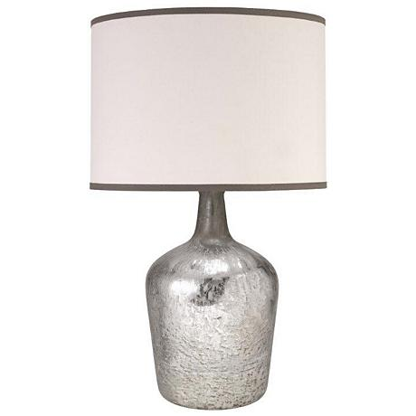 Hilary Plum Jar Mercury Glass Table Lamp