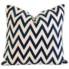 "Maslow 20"" Square Embroidered Chevron Throw Pillow"