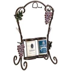 Vineyard 2-Bottle Wrought Iron Wine Holder